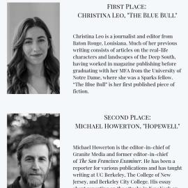 2019 Salamander Fiction Contest Winners